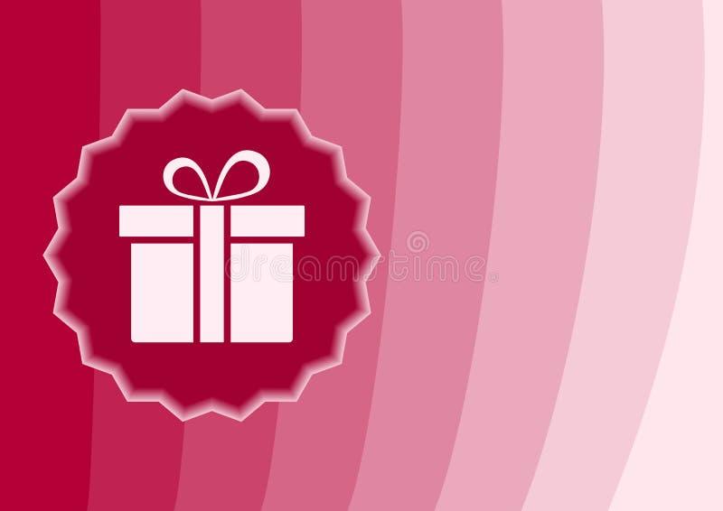 与礼物象,传染媒介的桃红色背景 库存例证