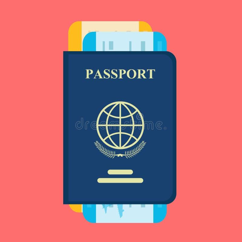 与票的传染媒介护照 库存例证