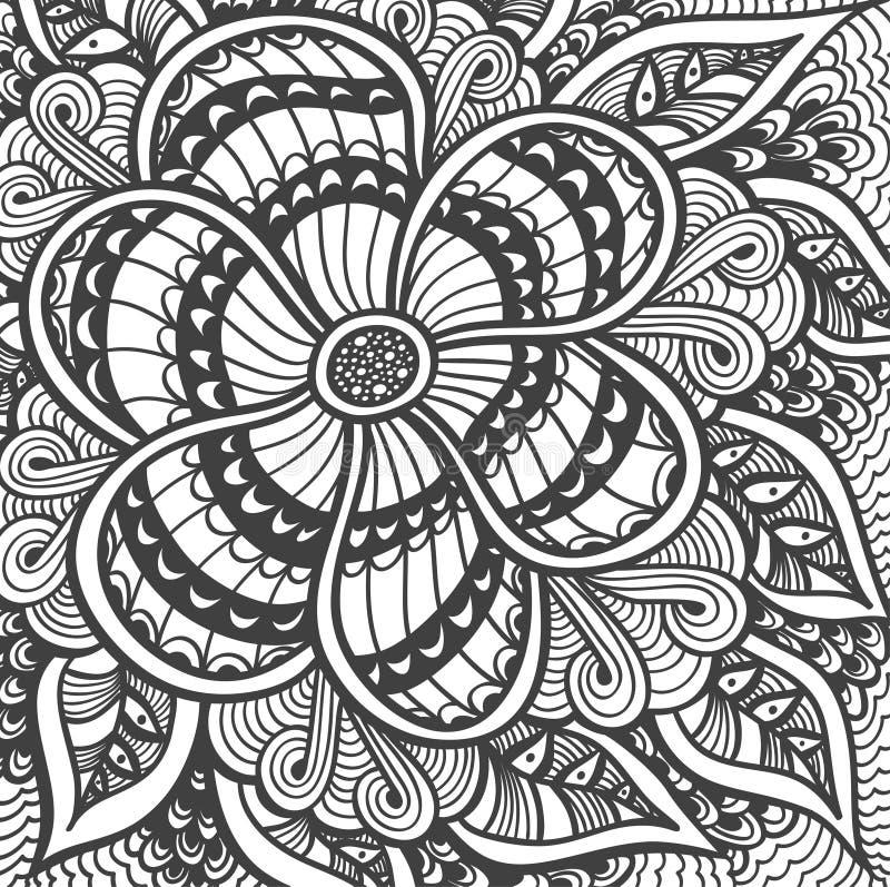 Download 与禅宗乱画样式黑色的背景在白色 向量例证. 插画 包括有 创造性, 螺旋, 艺术, 钉书匠, 衣裳, 现代 - 72370068