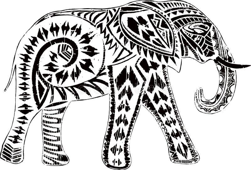与种族作用的逗人喜爱的大象 库存图片