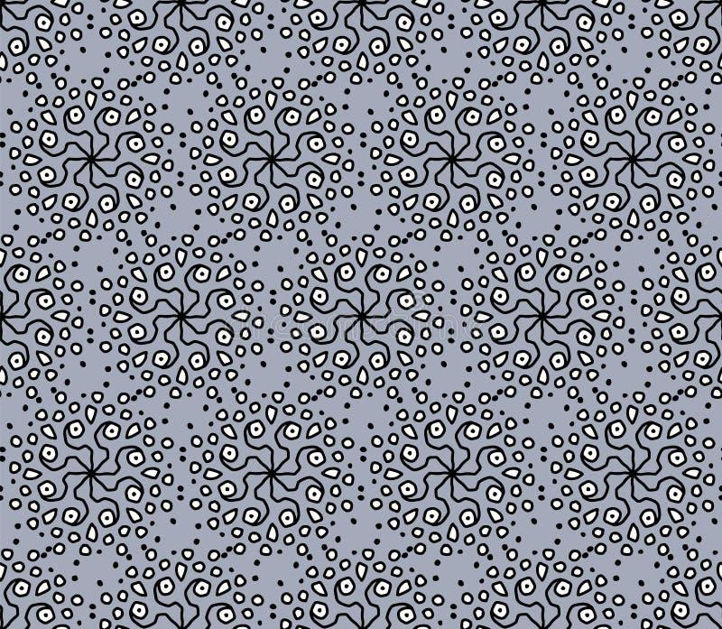 与种族装饰品的现代无缝的灰色样式 库存例证
