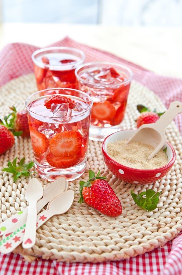 自创草莓柠檬水 库存照片