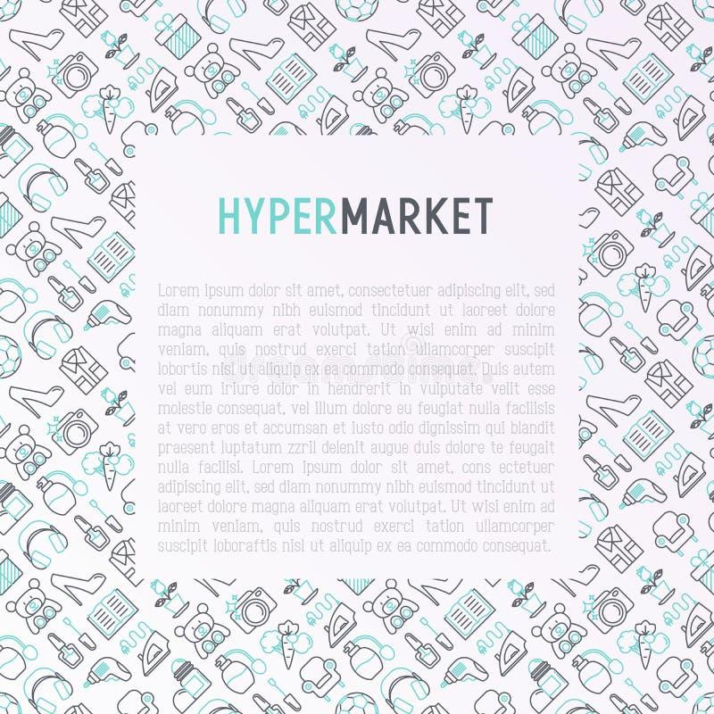 与稀薄的线象的大型超级市场概念 皇族释放例证