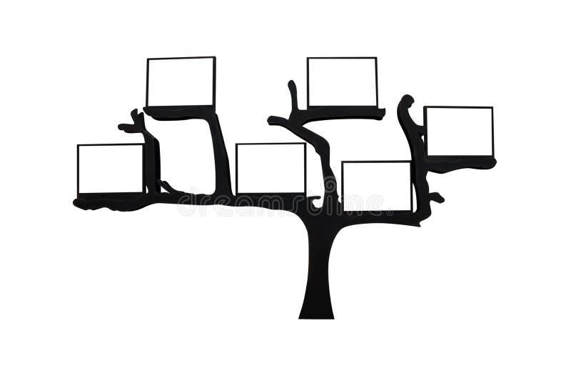 与空格的组织结构树文本的 向量例证