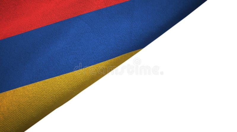 与空白的拷贝空间的亚美尼亚旗子左边 库存例证
