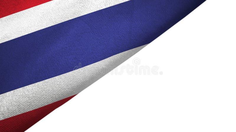 与空白的拷贝空间的泰国旗子左边 向量例证