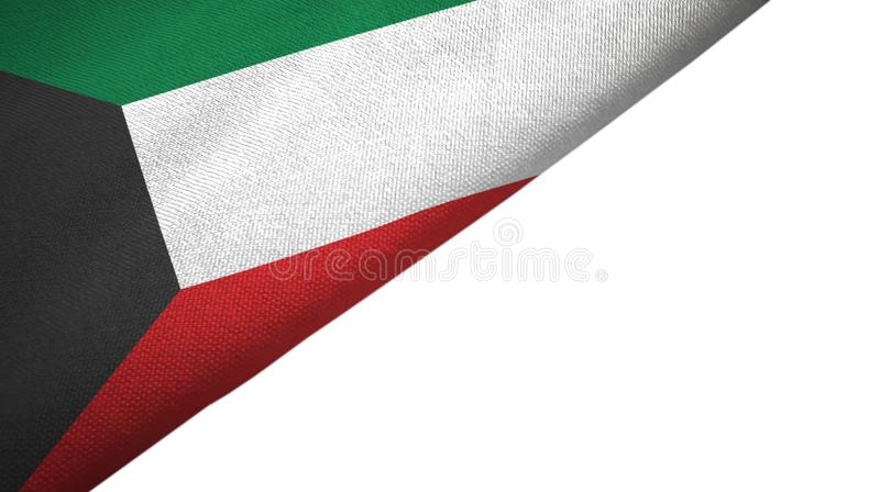 与空白的拷贝空间的科威特旗子左边 向量例证