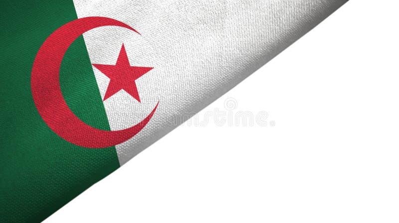 与空白的拷贝空间的阿尔及利亚旗子左边 向量例证