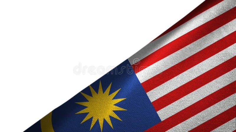 与空白的拷贝空间的马来西亚旗子右边 皇族释放例证