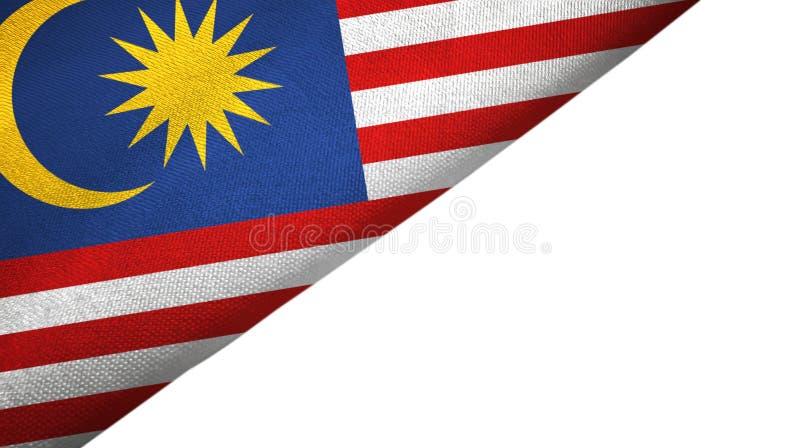与空白的拷贝空间的马来西亚旗子左边 向量例证
