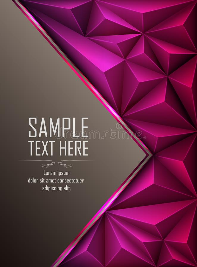 与空白的紫色抽象多角形背景 向量例证