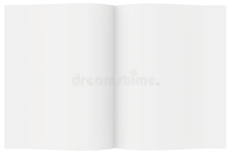 与空白的纸片的全开杂志 库存图片