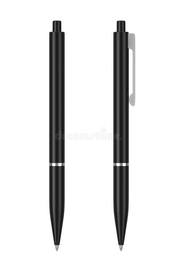 与空白的黑大模型圆珠笔你的商标或De 皇族释放例证