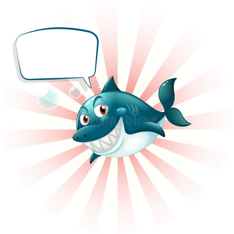 与空的呼出的一个鲨鱼 向量例证