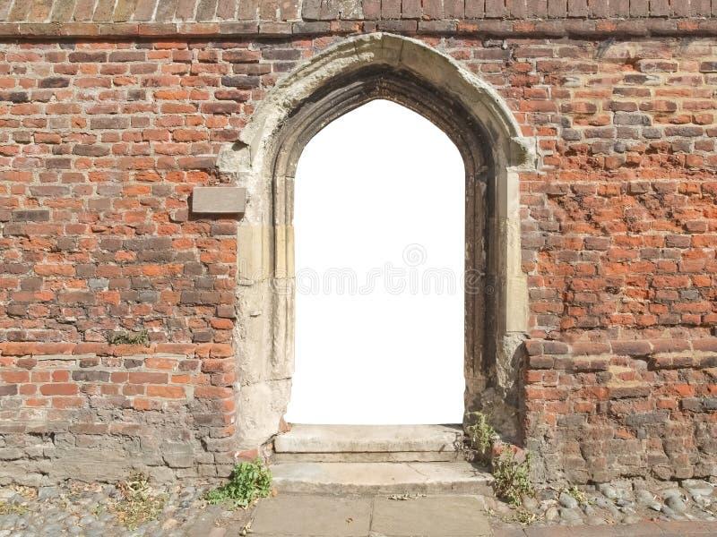 与空的空白的门的老门 免版税库存图片