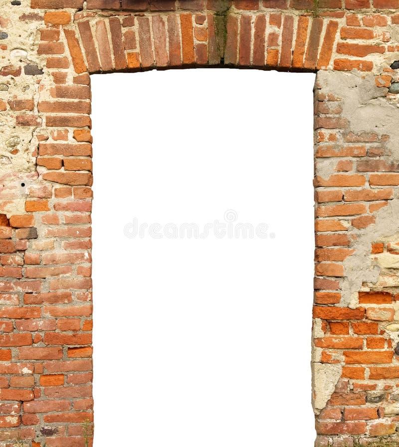 与空的空白的门的老门 免版税图库摄影