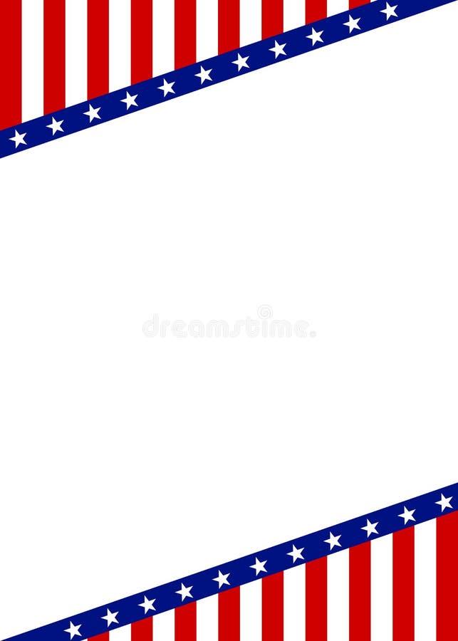 与空的空间的爱国框架边界 库存照片