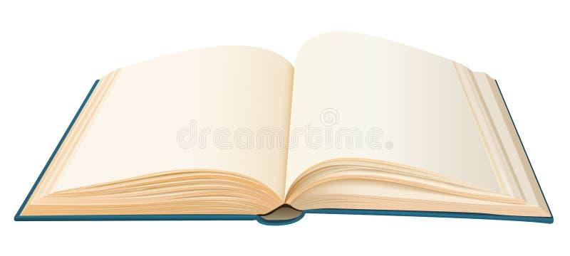 与空的页的现实被打开的书 向量例证