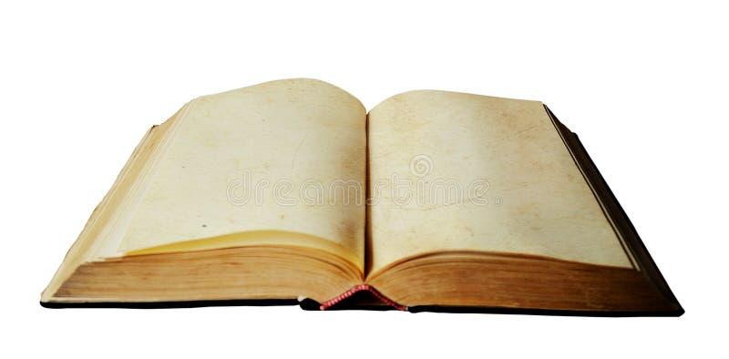 与空的页的老开放书 库存图片