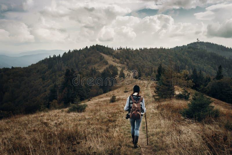 与空间的旅行癖和旅行概念文本的 行家trave 库存图片