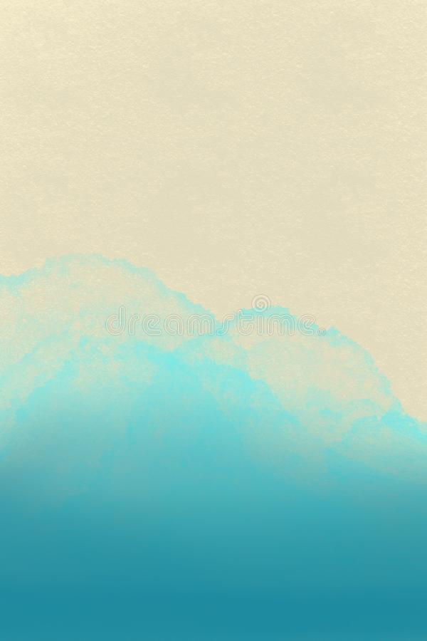 与空间的海背景文本的 海景-例证 向量例证