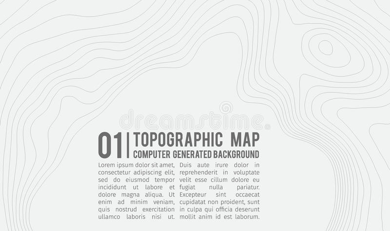 与空间的地形图背景拷贝的 排行地势地图等高背景,地理栅格摘要 皇族释放例证