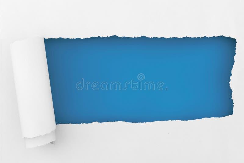 与空间的被撕毁的纸您的消息的 免版税库存图片