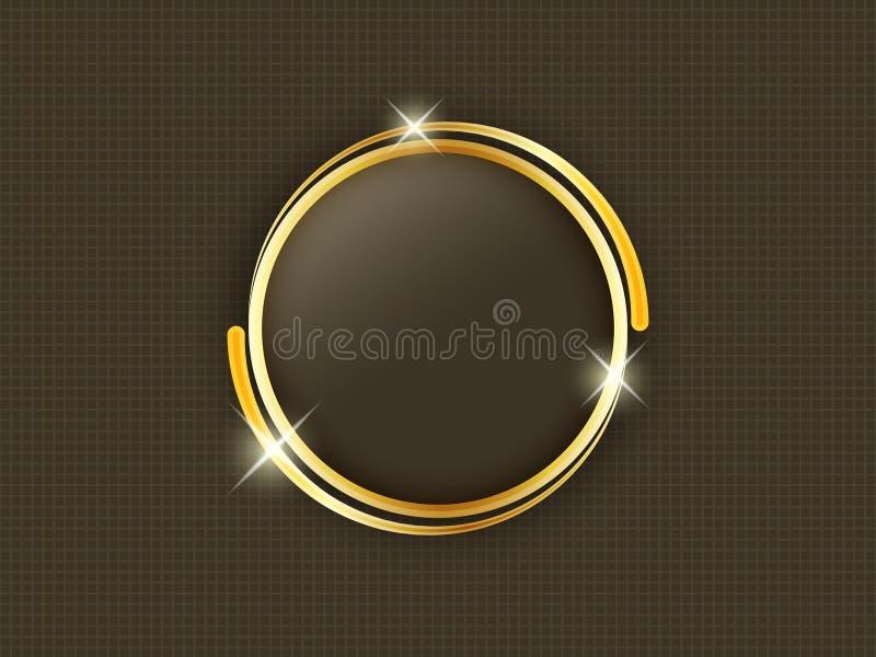 与空间的金戒指在黑暗的背景中间的文本的 向量例证