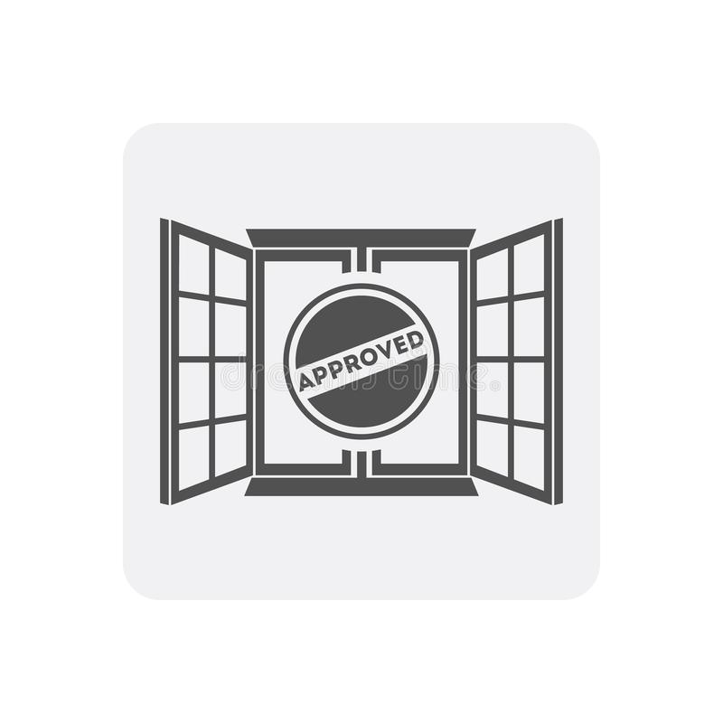 与窗口标志的质量管理在家象 皇族释放例证