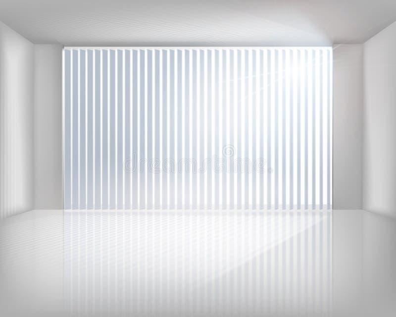 与窗帘的视窗 也corel凹道例证向量 向量例证