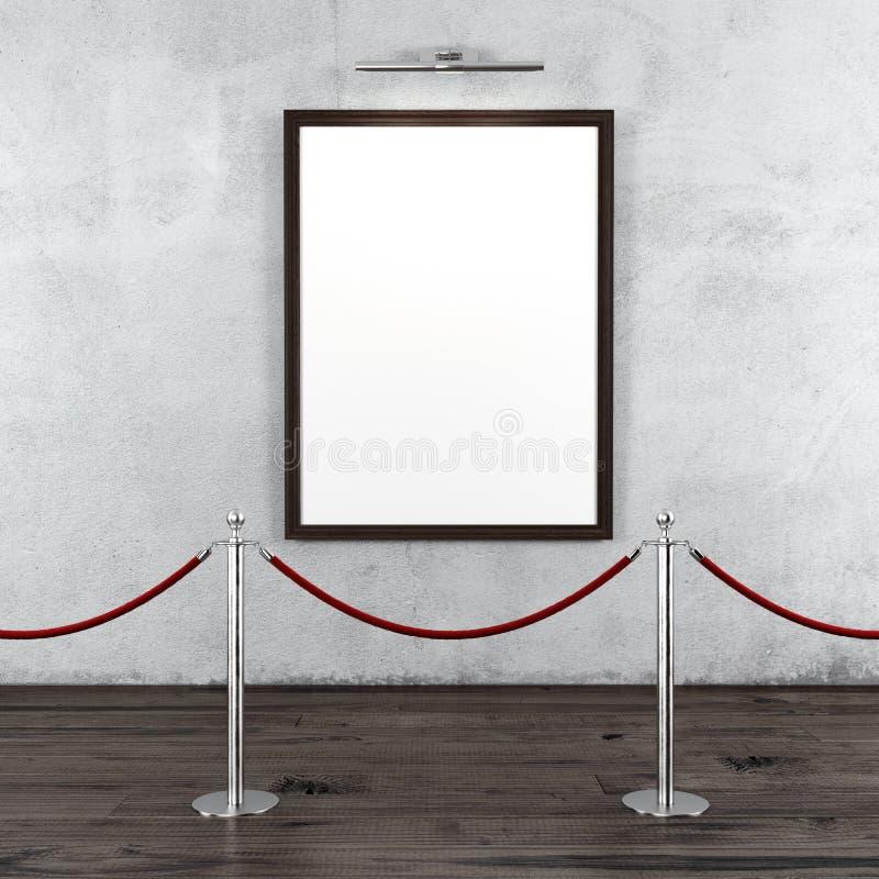 与立场障碍和空白的框架的画廊 皇族释放例证