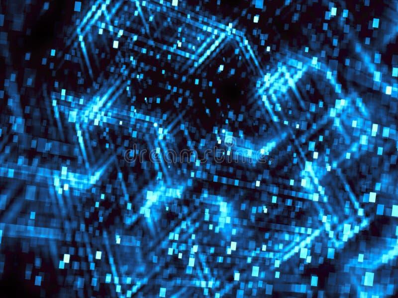 与立方体的抽象技术迷离-数位引起了图象 皇族释放例证