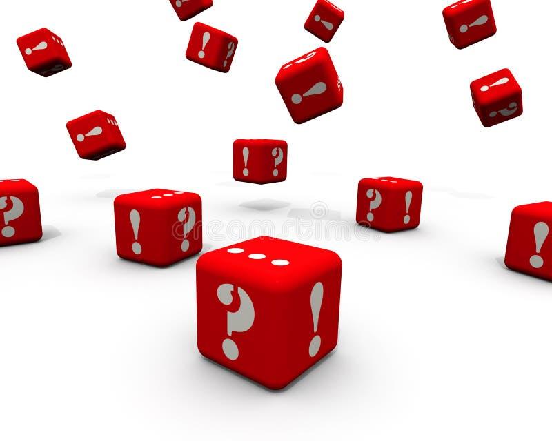 问题和解答 与立方体的概念 皇族释放例证