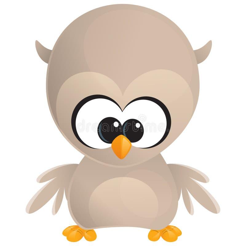 逗人喜爱的动画片小猫头鹰 库存例证