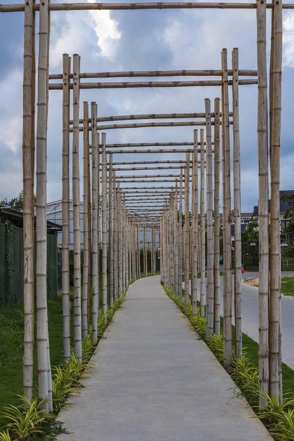 与竹门的一条路在富国岛 库存照片