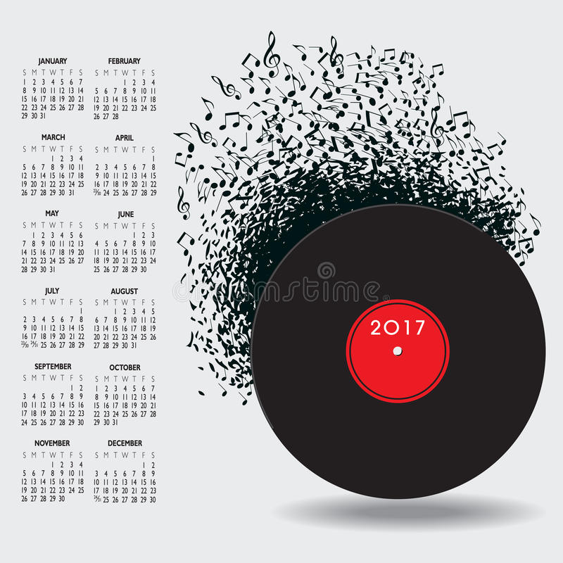 Download 2017年与笔记的音乐日历 向量例证. 插画 包括有 夹子, 季节, 要素, 附注, 音乐, 日历, 计划程序 - 72355287