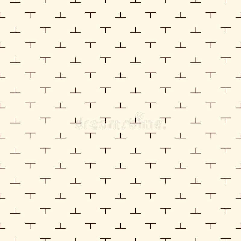 与简单的几何装饰品的最低纲领派无缝的样式 重复的难题马赛克摘要背景 现代样式 库存例证