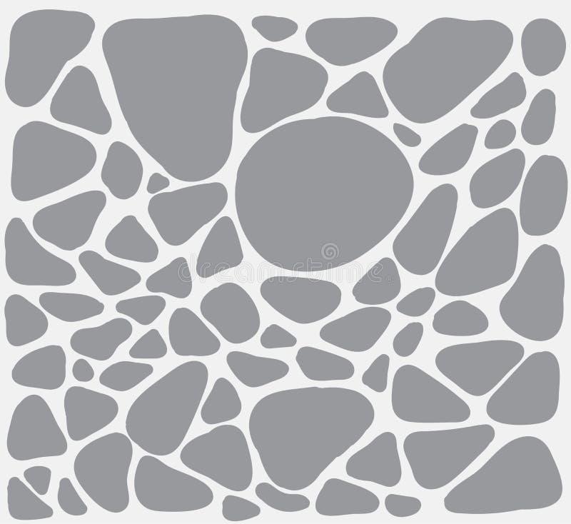 与简单的形状的白色和灰色例证simular对石头 免版税图库摄影