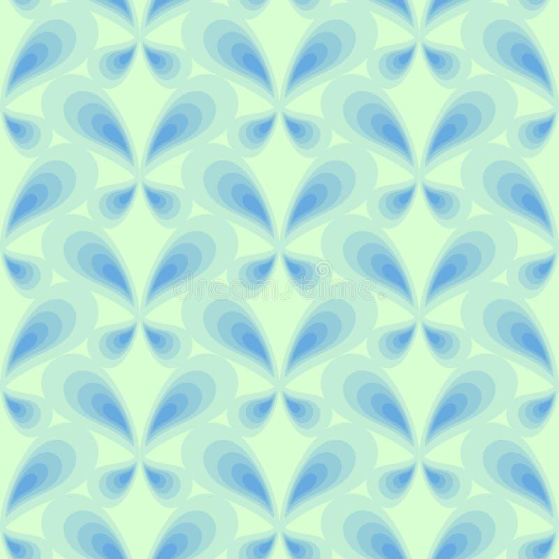 与简单的蝴蝶的减速火箭的无缝的样式在黑暗的背景 纺织品的,包装纸,印刷品,织品平的装饰品, 库存例证