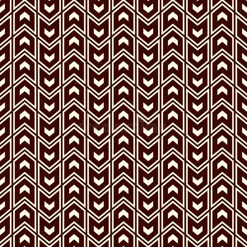 与箭头主题的无缝的样式 重复的微型角括号 V形臂章墙纸 抽象背景最低纲领派 向量例证