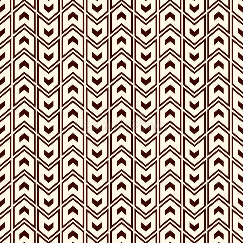 与箭头主题的无缝的样式 重复的微型角括号 V形臂章墙纸 抽象背景最低纲领派 库存例证