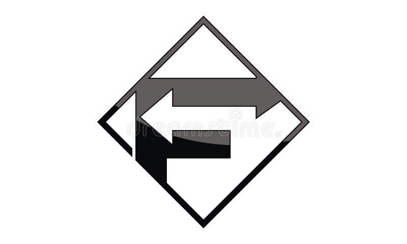 与箭头的商标F 库存例证
