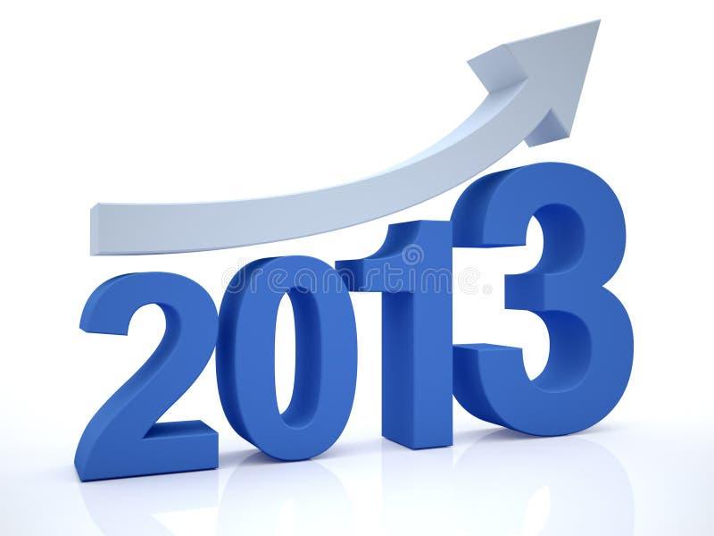 与箭头的增长2012年 库存例证