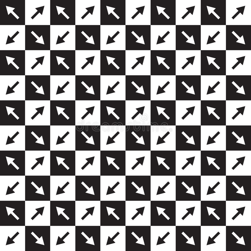 与箭头的方格的样式 库存例证