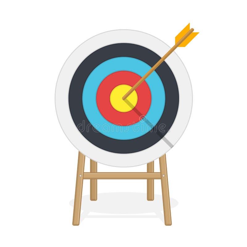 与箭头的目标在中心 皇族释放例证
