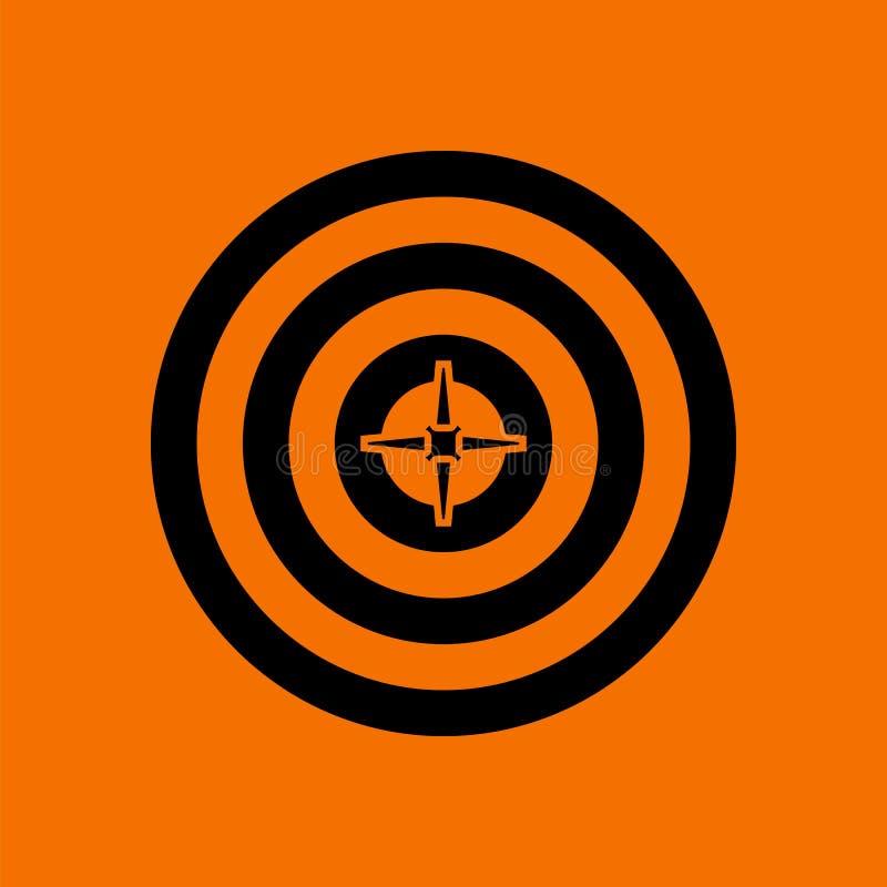 与箭的目标在中心象 库存例证