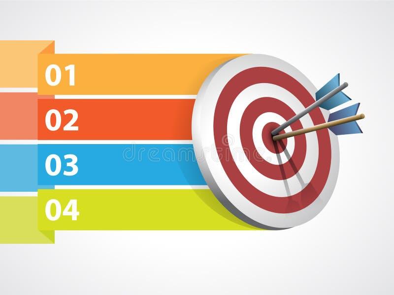 与箭头和图表信息的目标 向量例证