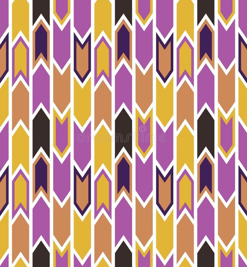 与箭头的无缝的几何传染媒介样式 向量例证