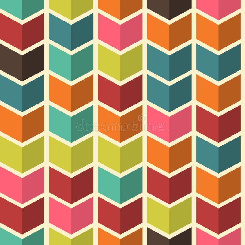 与箭头的无缝的抽象五颜六色的背景在现代colo 库存例证