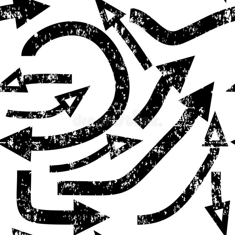与箭头的无缝的纹理 难看的东西作用 向量例证